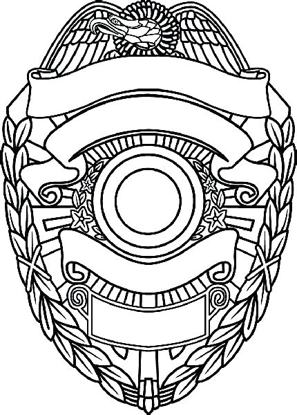 Police Detective Badge Coloring Page Coloring Pages Badge Coloring Page