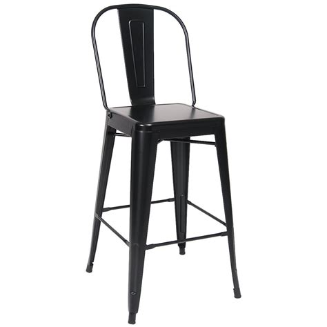 bistro style bar stools bistro style metal bar stool in black finish