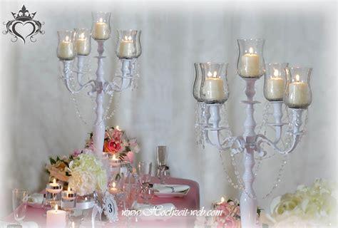 kerzenhalter glas hochzeit tischdeko mit kerzenleuchter kerzenst 228 nder