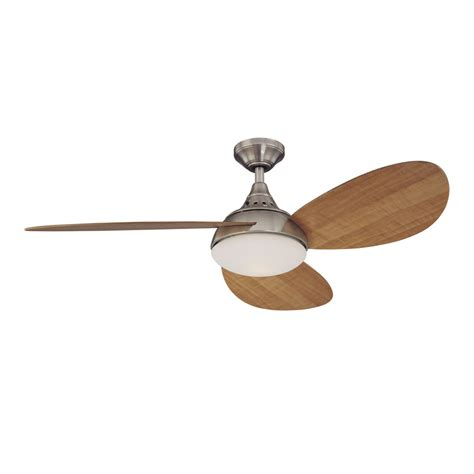 harbor breeze ceiling fan parts shop harbor breeze 52 in avian brushed nickel ceiling fan