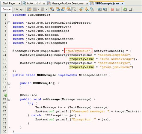 creating a simple java message service jms producer with