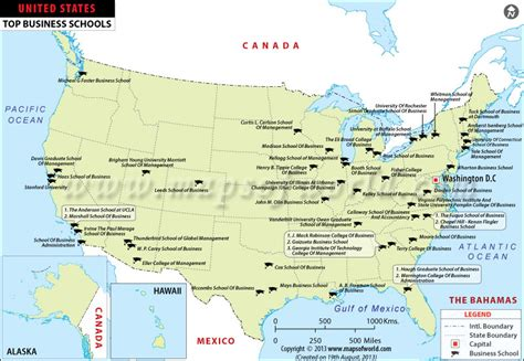 Mba Schools Maps top business schools in us top mba colleges in usa