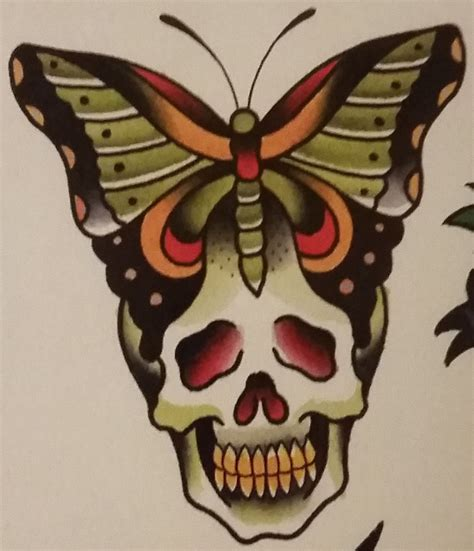 old school skull tattoo traditional school jeromey quot tilt quot mcculloch