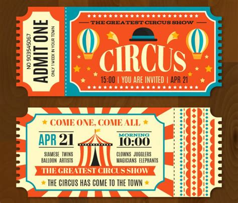 circus ticket template free 16 free ticket design templates for designyep