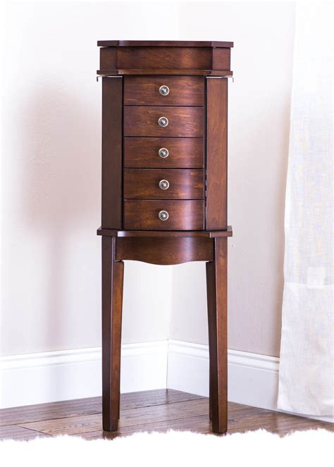 jewelry armoire walnut meg jewelry armoire rich walnut hives and honey