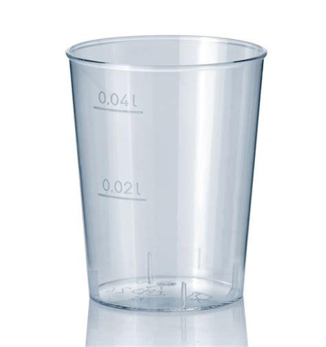 bicchieri di bicchiere di plastica rigida trasparente ps 40 ml 50