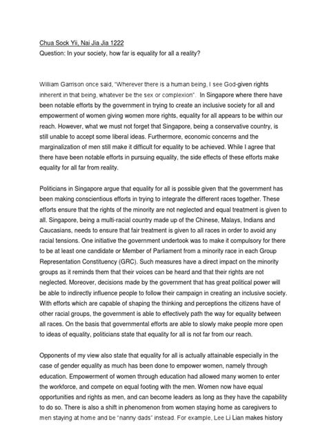 Gender Equality Essay Paper by Essay Js Gender Equality