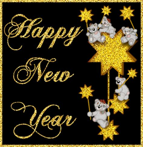 happy new year wishes animation happy new year glitter gifs