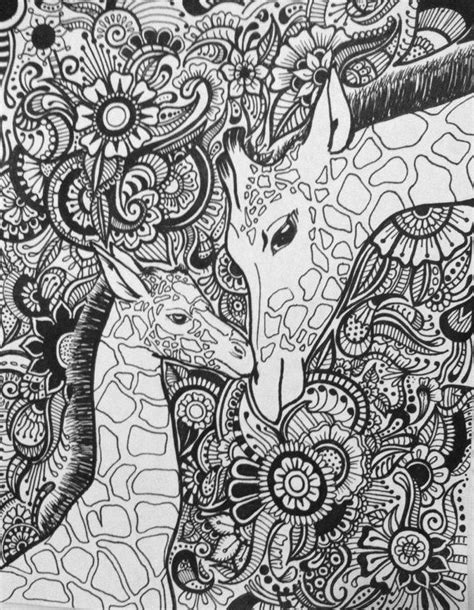 coloring pages for adults giraffe 118 best images about szinezo on coloring gel