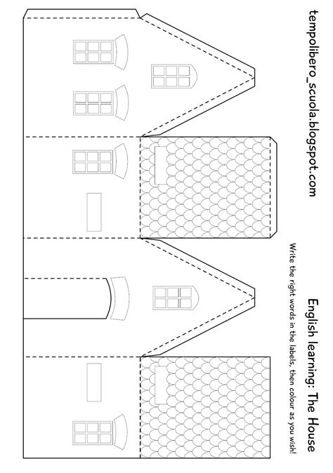 house template for card tempo libero learning the paper house