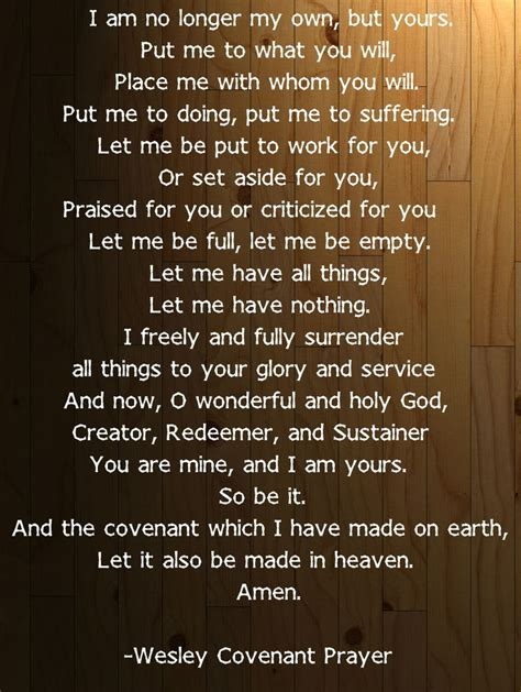 methodist prayer wesley covenant prayer united methodism