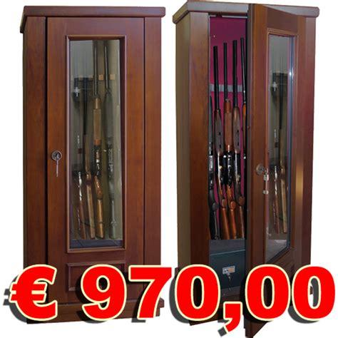armadio portafucili prezzi armadio portafucili rivestito legno c vetro