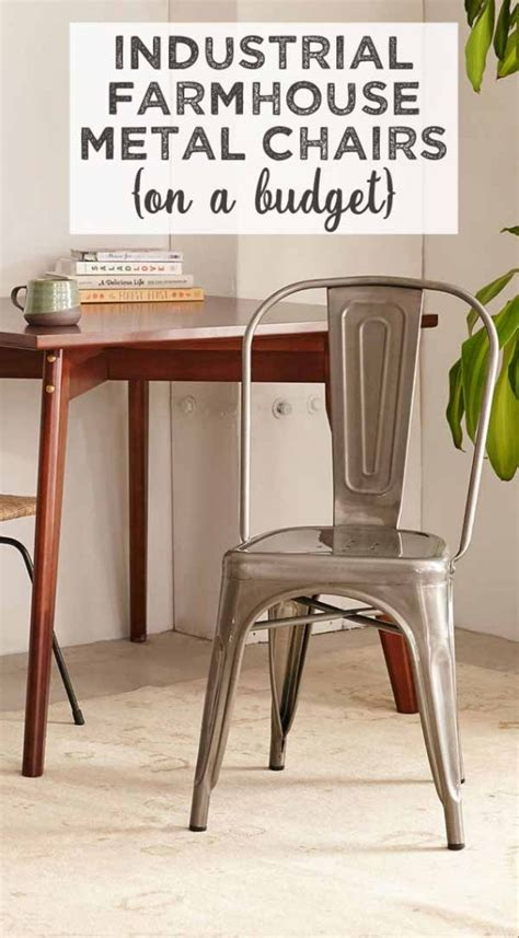 industrial farmhouse style chairs   budget