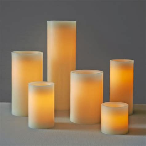 flameless pillar candles west elm