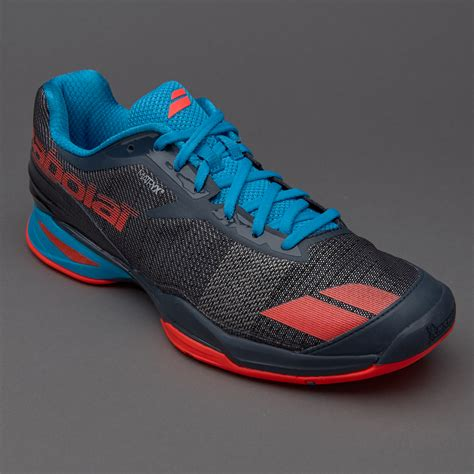 Sepatu Merk Babolat sepatu tenis babolat original jet all court grey blue