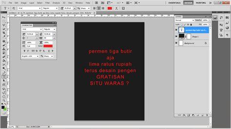 tutorial adobe photoshop yang keren cara membuat text typography keren dengan photoshop cs5