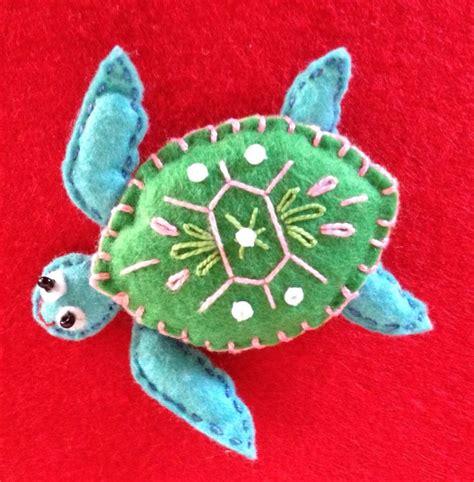 felt turtle pattern felt sea turtle finger puppet pinteres