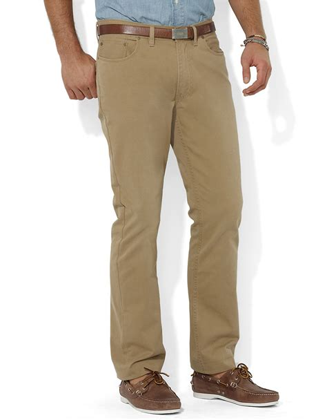 Polo Ralph Laurenpants With Cotton by Polo Ralph Fit Five Pocket Chino In