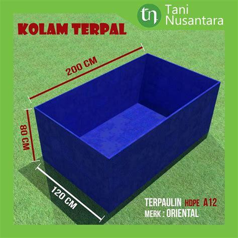 Jual Kolam Terpal Lele Depok jual kolam terpal kotak dimensi 200 cm x 120 cm x 80 cm di