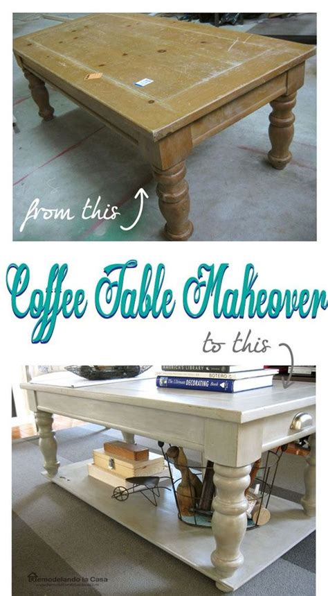 Diy Coffee Table Makeover Coffee Table Makeover With Added Lower Shelf The Two Islands And Bar