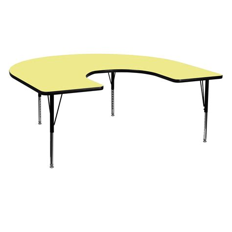horseshoe table for classroom flash furniture 66l x 60w in horseshoe adjustable height