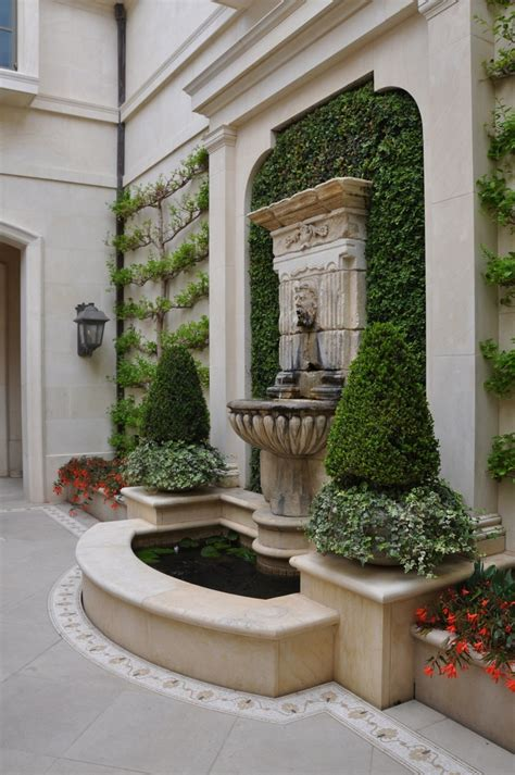 images  front doorporch renovation  pinterest wall fountains topiary plants