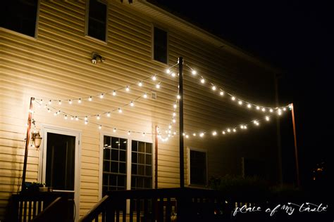 how to attach string lights hang string lights on your deck an easy way