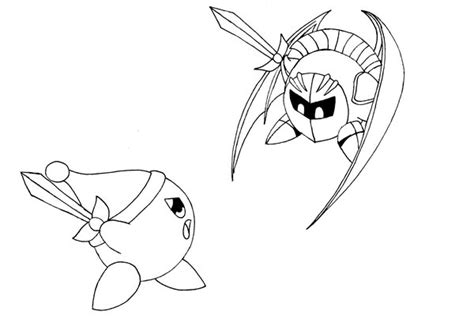 kirby coloring pages meta knight 9 images of meta knight coloring book page kirby and