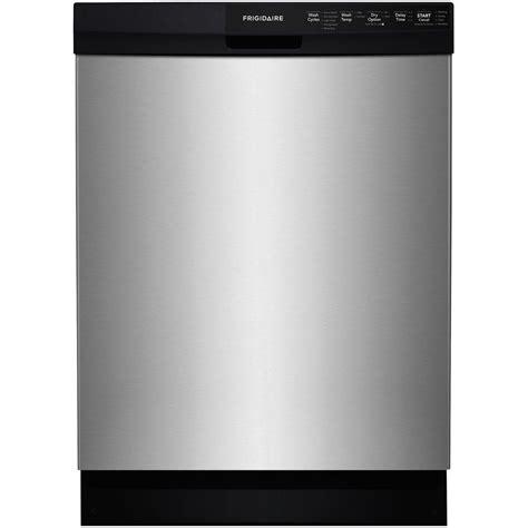 frigidaire dishwasher no lights frigidaire front dishwasher in stainless steel