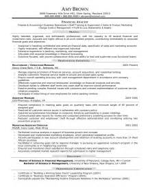 sle resume of a financial analyst resume template finance ideas best it resume exles