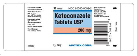 Tablet Ketoconazole ketoconazole apotex corp fda package insert page 3
