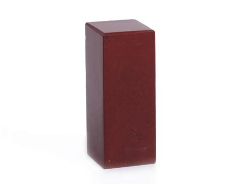Color For Happy by Dark Brown Red Chinese Quot Mountain Red Quot Seal Stone Cuboid