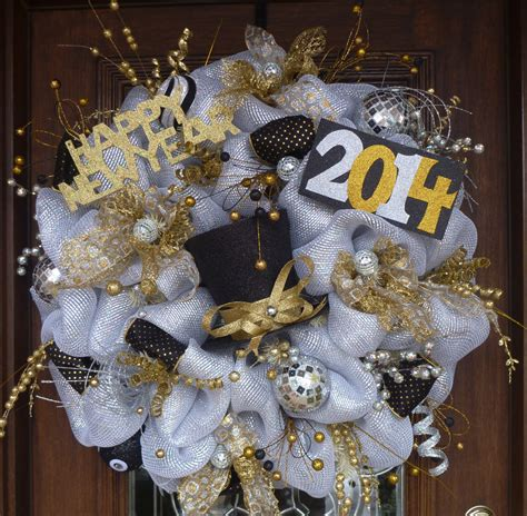 new year wreath 30 deluxe deco mesh new year s wreath