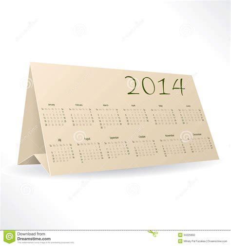 design desktop calendar 2014 triangle calendar design stock vector image 34220892