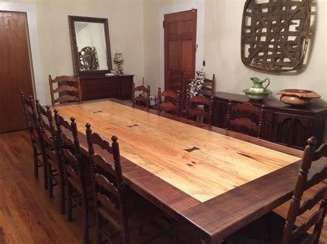Pine Dining Room Table Pine And Walnut Dining Room Table