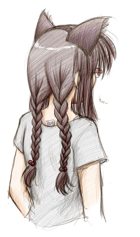 Drawing Of A With Braids by Miho Braiding By Fredrin On Deviantart
