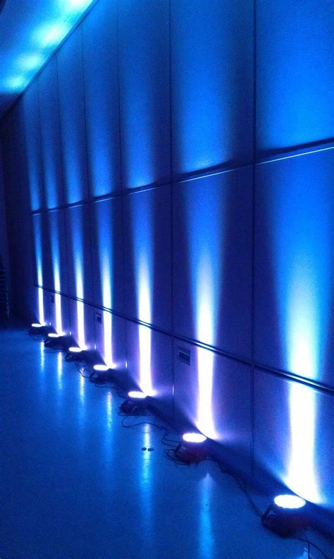 cool lighting uplighting usually used at fashion shows on a runway or at