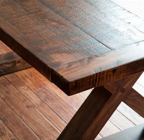 sawn barnwood kitchen table vale lorin bruck design