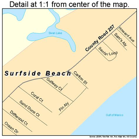 texas beaches map surfside texas map 4871384