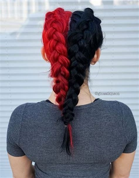 how to put red hair in on the dide with 27 pieceyoutube best 20 half dyed hair ideas on pinterest