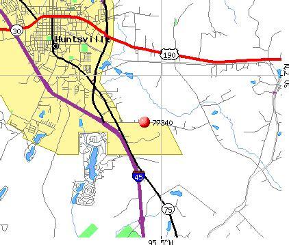 map of huntsville texas huntsville texas zip code map my