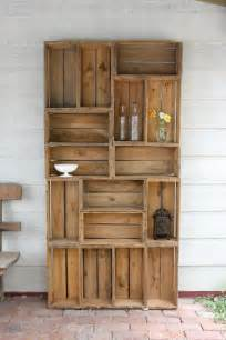 Apple Crate Bookcase Natural And Thrifty In 365 5 Bookshelf Made Out Of Apple