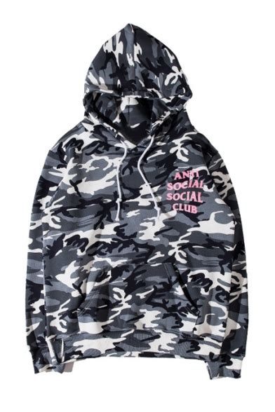 Hoodie Anti Social Social Club X Bapo Brown Camo Packa Berkualitas 1 camouflage color block anti social social club printed