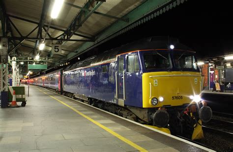 To Penzance Sleeper by Class 57