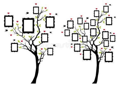 Family Tree With Photo Frames Vector Stock Vector Illustration Of Flying Family 99748048 Family Tree Template Vintage Vector Illustration Stock Vector Illustration Of Connection