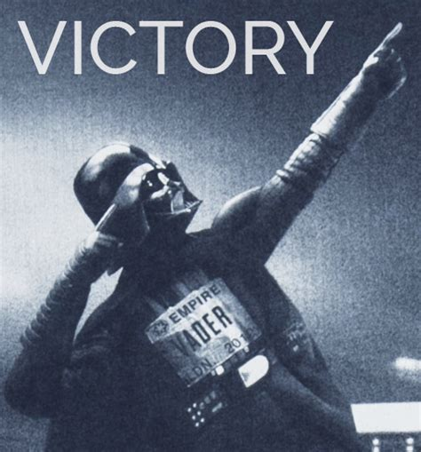 Victory Meme Face - darth vader victory starwars meme celebration coso