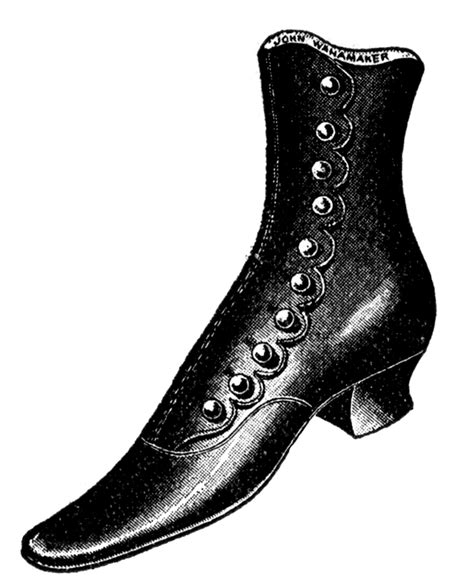 vintage clip shoes and boots the graphics