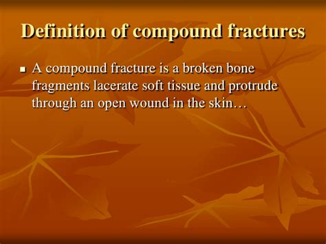 definition of compound fractures