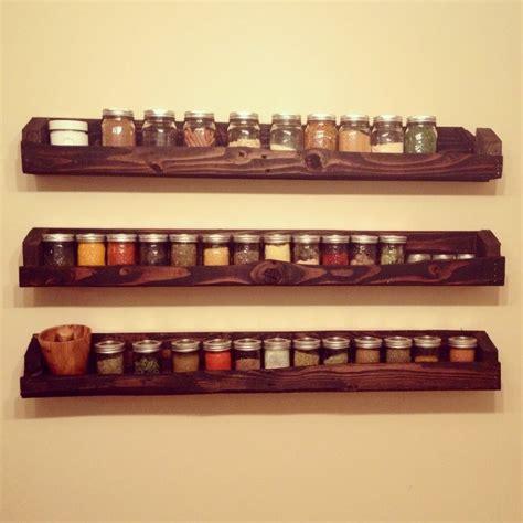 diy spice rack shelf pallet jar kitchen storage diy