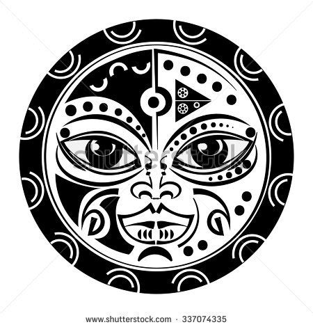 sacred tiki tattoo sacred geometry tiki mask tradition polynesian